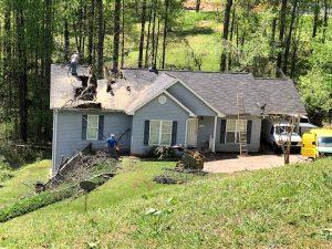 Storm damage to Garner Home in N. Hall